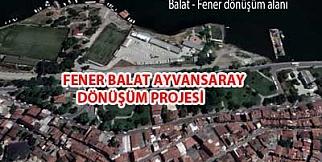 Fener Balat Ayvansaray proje alanı