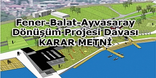 Fener Balat Ayvansaray projesi