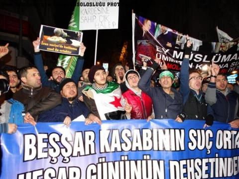 Rus ve İran Konsolosluklarına Protesto