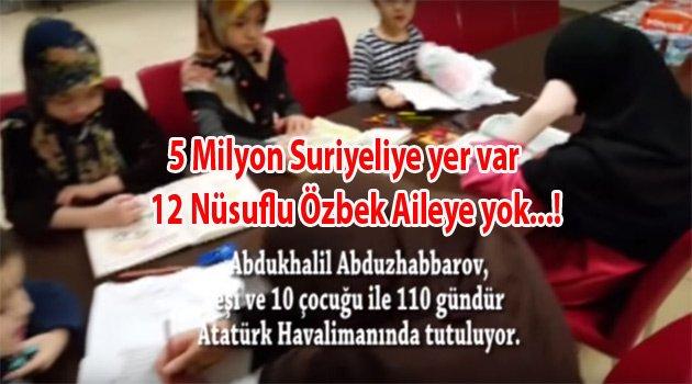 5 milyon Suriyeliye yer var 12 Türke Yok