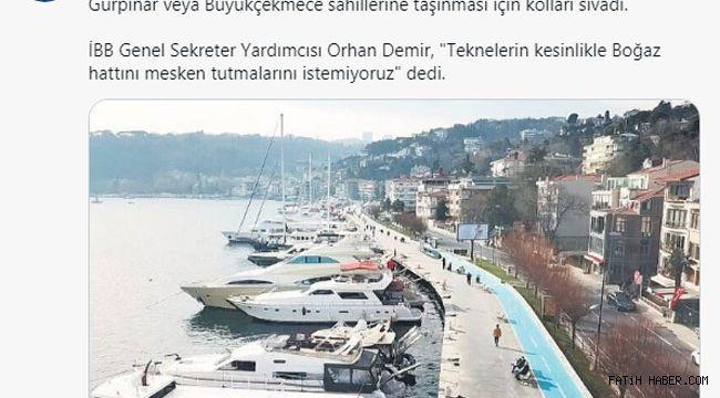 Sayın Orhan Demir Haliç Sahili halka kapatıldı