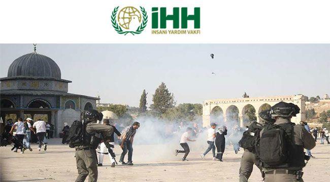 İHH Kudüs'e destek gösterisi