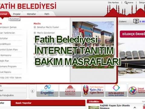 Fatih belediyesi İnternet tanıtım masrafları