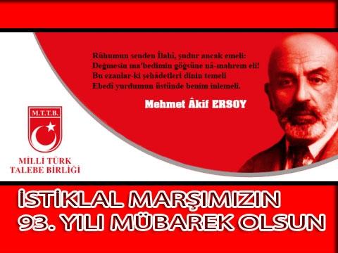 İstiklâl Marşı ve Mehmet Âkif Ersoy'u Anma