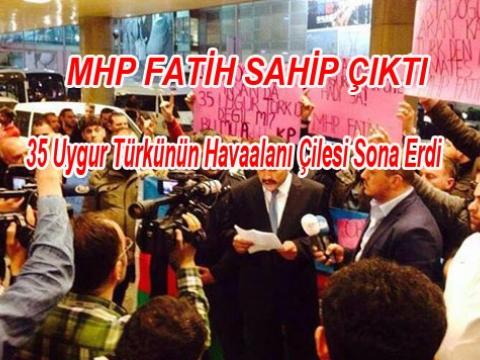 MHP Fatih Uygur Muhacirlerine sahip çıktı
