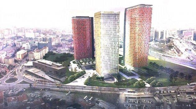470 rezidans, 4 gökdelen, 240 odalı otel ve AVM