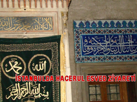 İstanbulda Cennet Taşı Hacerul Esved