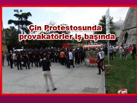 Çin Protestosunda İstanbul Ülküocağı Başkanı