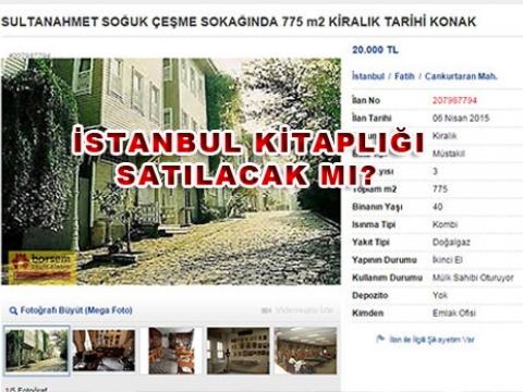 Çelik Gülersoy'un İstanbul Kitaplığı Otel Olacak mı?