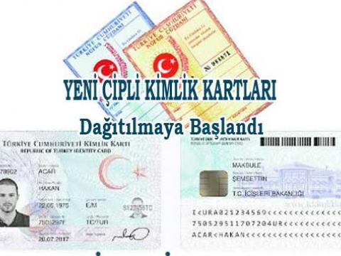 Yeni kimlik kartları dağıtıma başlandı.