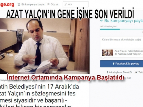 Fatih Belediyesi Mimar Azat Yalçın'nın sözleşmesini iptal etti