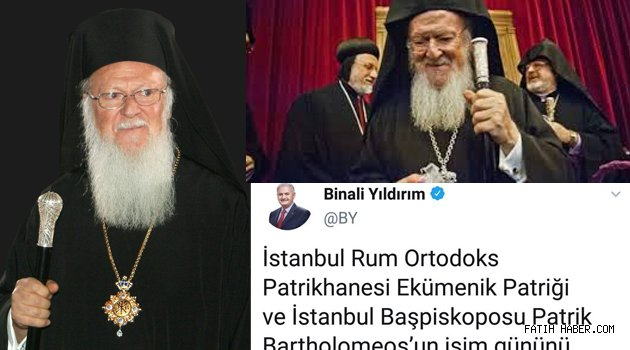 Bartholomeos Devlet Başkanı mı?