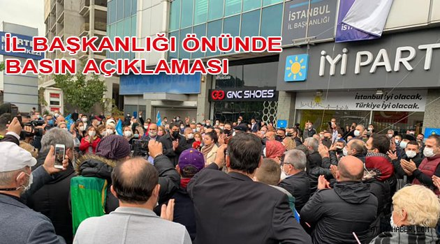 İyi parti önünde basın açıklaması yapıldı
