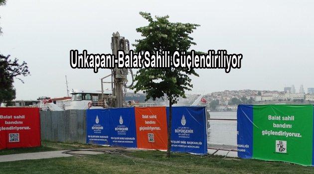 Balat sahili Fiber betonla güçlendiriliyor