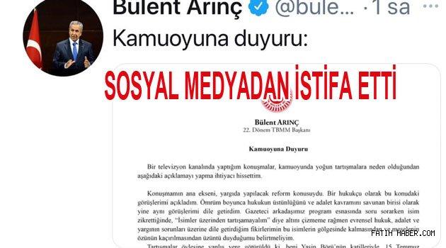 Bülent Arıç Twitterden istifa etti