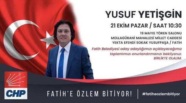 CHP Fatih yerel seçimler yol haritası