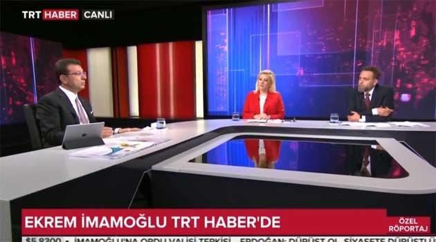 Ekrem İmamoğlu TRT Haber'de