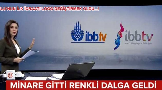İmamoğlu İBB Tv. Logosunu değiştirdi