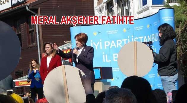 Meral Akşener Fatih'te Konuştu