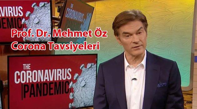 Prof. Dr. Mehmet Öz'den Korona Tavsiyesi