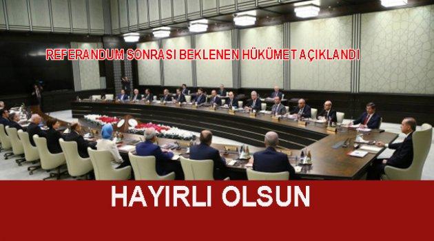 Referandum Sonrası Yeni Kabine kuruldu