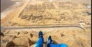 Alman Genç Giza pramidine çıkarak video çekti