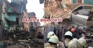 Ballatta 4 katlı metruk bina çöktü