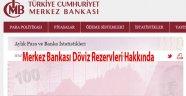 Merkez Bankası stoklarımız hakkında