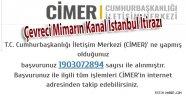 Kanal İstanbul'a Örnek Cimer itirazı