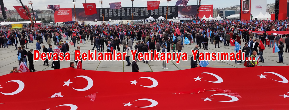 Referandum için  MHp'nin İstanbul Yenikapı Mitingi