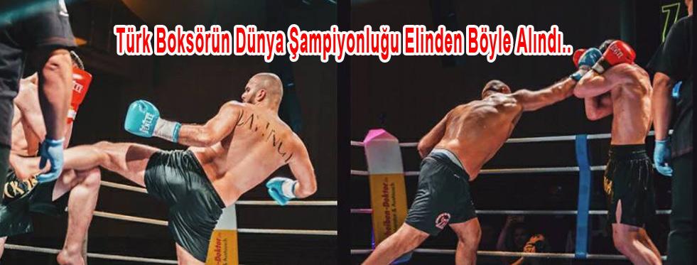 Dünya Kickbocks Şampiyonasında Kirli oyun