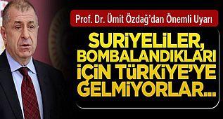 Prof. Dr. Ümit Özdağ, Suriyeli Mülteciler